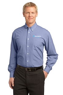 Acumatica Port Authority Plaid Pattern Easy Care Shirt