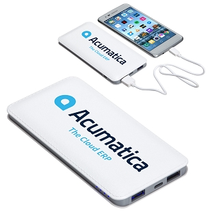 Acumatica Ambassador 10000 mAh Faux Leather Power Bank
