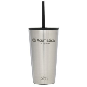 Acumatica Simple Modern Classic 16oz Stainless Straw Tumbler